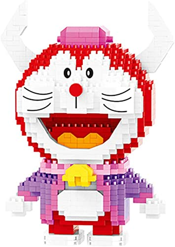 QSSQ Doraemon Spagna Bullfight Cat Animal Pet Pet Modello 3D DIY Mini Diamond Blocks Blocks Building Toy per Bambini (973Pcs)