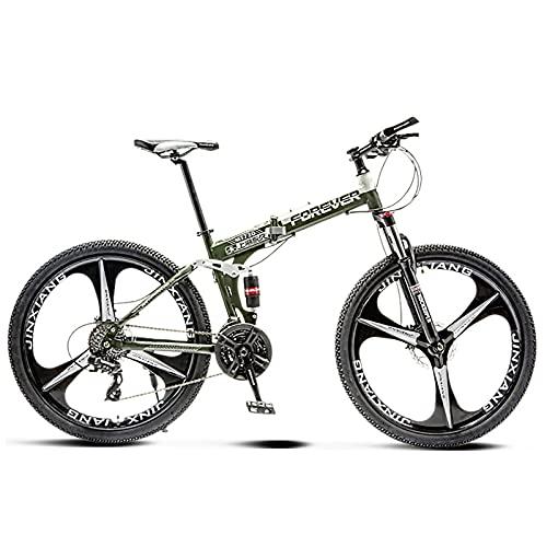 VIY Bicicleta de montaña de 24 Pulgadas 21 velocidades de Acero de Alto Carbono Bicicleta de montaña con suspensión Delantera Asiento Ajustable,D
