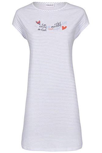 Ringella Damen Nachthemd mit Motivdruck ciel 42 0211027, ciel, 42