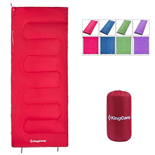 KingCamp Schlafsack Ultraleicht Schlafsack Komfortbel Sommerschlafsack Dünner Deckenschlafsack für Camping Wandern Zuhause Rucksackreisen, 180 × 75 cm, 1 kg