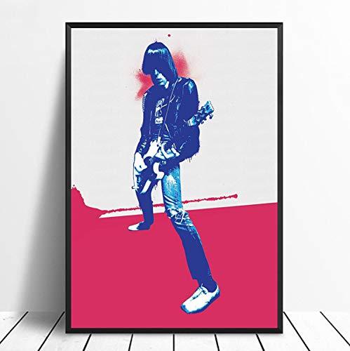 taoyuemaoyi Johnny Ramone Musik Poster Hip Hop Rap Musik Band Star Poster Wandkunst Malerei Room Home Decor Leinwanddruck 40 * 60 cm