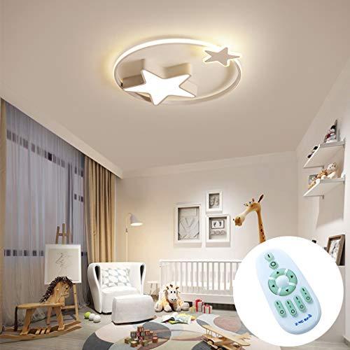 Deckenleuchte LED Moderne Kinderlampe Kinderzimmer Jungen Mädchen Deckenlampe Sternenhimmel Lampe Dimmbar Mit Fernbedienung Interior Schlafzimmer Lichter Wohnzimmer Pendellampe,Weiß,45cm29W