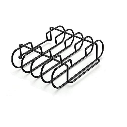 GFTIME Rippchenhalter aus emailiertem Porzellan, stabilem Stahl, für Keramikgrills von Weber, Charbroil, Kenmore, Master Forge, Brinkmann, Green Egg, Primo und Kamado