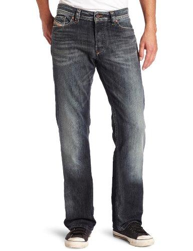Diesel Herren Viker Regular 0885K Slim Straight Leg Jeans - Blau - 31W / 32L