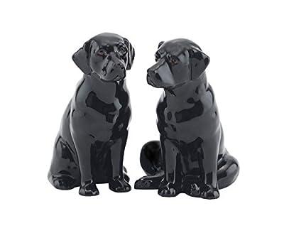 Fine China Black Labrador Salt and Pepper Pots from Quail Ceramics