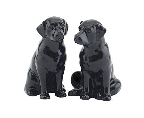 Porcelaine Fine Black Labrador Kit salière et poivrière