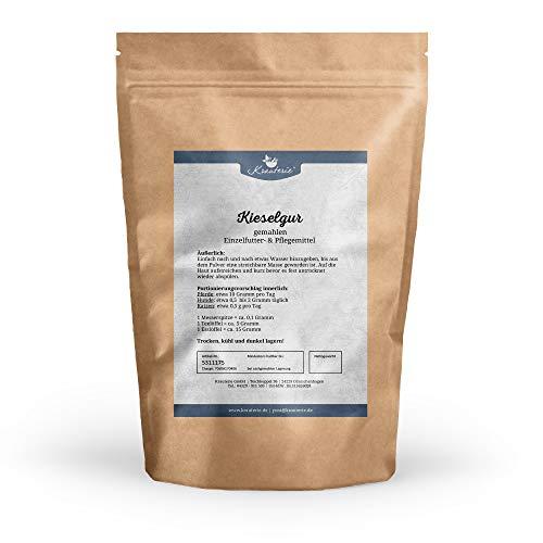 Krauterie Kieselgur in sehr hochwertiger Qualität, frei von jeglichen Zusätzen, für Pferde, Hunde oder Katzen – 500 g