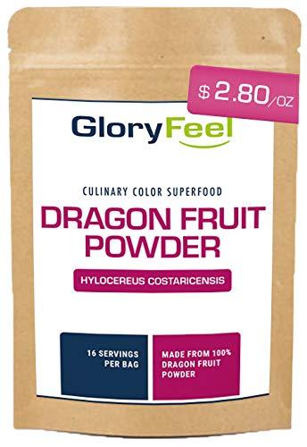 Gloryfeel Freeze Dried Red Dragon Fruit Powder (5 OZ), Pitaya Powder Dragonfruit
