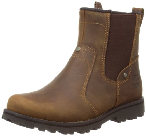 Timberland Asphalt Trail Jungen Chelsea Boots, Braun (Brown Smooth), 36