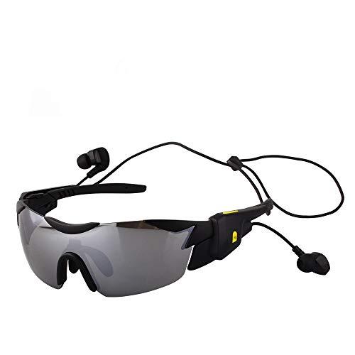 WOXING Deportivas Gafas,V4.1 Mujer Hombre Gafas De Sol,Aire Libre Deportes Polarizadas Bicicleta Ciclismo Bluetooth Smart Correr Pesca Esquiando-B 15.5x13x4.8cm(6x5x2inch)
