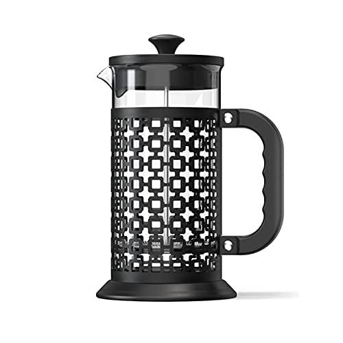 Francuski ekspres do kawy prasowy, 2 w 1 Podróży do kawy i herbaty, 1l ( Color : Black , Rozmiar : One size )
