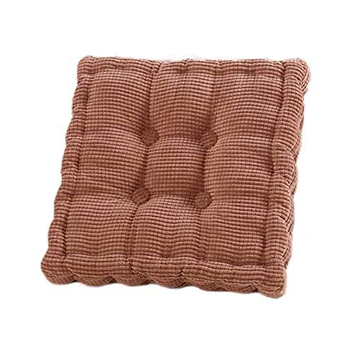 TYHZ Cojines para Sillas Cojín de Corduroy Grueso, cojín de Asiento de Confort Redondo Silla Cuadrada Pad Tatami Play Pad Apto para el hogar La Oficina del automóvil Cojines sillas Comedor