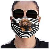 PPangUDing Mundschutz mit Motiv 3D Lustig Waschbar Wiederverwendbar Baumwolle Atmungsaktive Staubdicht Mund und Nasenschutz Halstuch Multifunktionstuch Bandana für Damen Herren