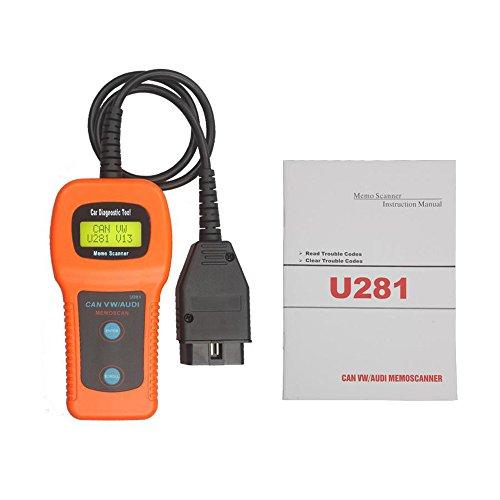 LHZTECH U281 OBD2 OBDII ABS SRS Car Auto Code Reader Diagnostic Scanner Tool for VW AUDI