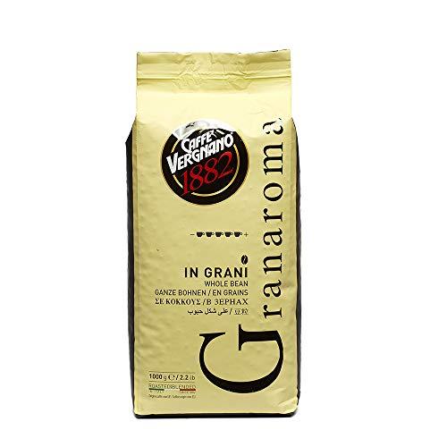 Caffè Vergnano 1882 Kaffeebohnen Granaroma - 1 Packung enthält 1 Kg