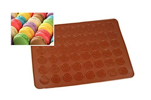 Silikon Macaronmatte mit 48 Mulden für 24 Macarons Backform Backofen