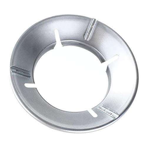 Cabilock - Soporte para wok de hierro, soporte para wok de bajo consumo (plata)