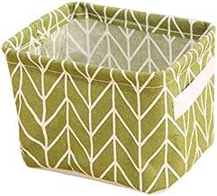 JimJim The WarmHome Decorative Basket Rectangular Fabric Storage Bin Organizer Basket Cosmetic Sundries (4)