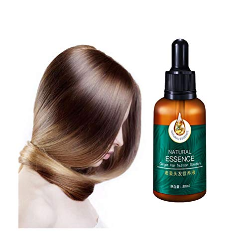 1pc 7X Rapid Growth Hair Treatment Anti Hair Loss Fast Hair Growth Serum Ginger Essential Oil 30ml - Anti Hair Loss Hair Serum, Thinning, Balding, Promotes Thicker and Regrowth for Men and Women