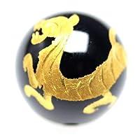 金彫り 白虎 オニキス ビーズ 四神獣【粒売り】 約16mm 1個〔 天然石 パワーストーン アクセサリー 〕