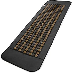 UTK Full Body Tourmaline Infrared Heating Pad, Large Far Infrared Therapy Heat Mat for Pain Relief, 24X70 Inch, 270 Tourmaline Stones, Auto-Off, Memory Function Smart Controller…