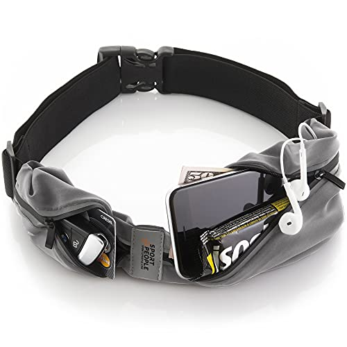 sport2people Running Belt for Men and Women, Fanny Pack for...