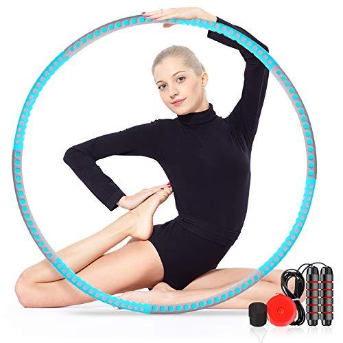 gracosy Schlankheits Ausrüstung Fitnesskreis Gewichtsreduktion Reifen mit Schaumstoff Abnehmbarer Gewichtsverlust Bauchmuskelkonturen für Fitness Taille Hüfte