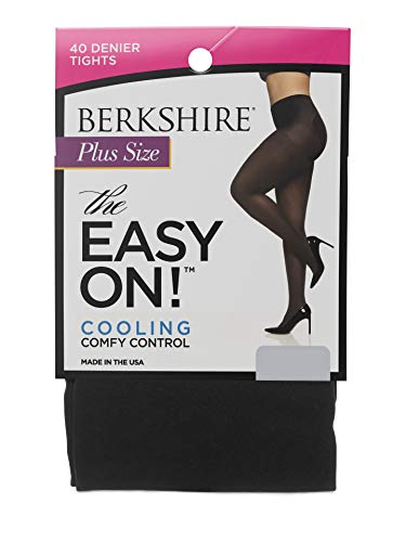 Berkshire The Easy On! 40 Denier Plus Size Tights, Black, 3X-4X