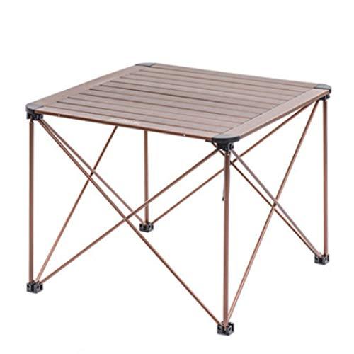 Mesa de Camping Plegable de aleación de Aluminio Super Luz, Mesa de Campamento compacta portátil, Mesa de Picnic Ligera con Bolsa de Transporte (Color : Brown)