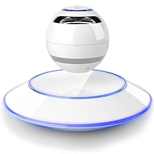 WJSW Lévitation magnétique Téléphone sans fil Bluetooth Son d'ordinateur Subwoofer Upscale Creative lévitation magnétique, Blanc
