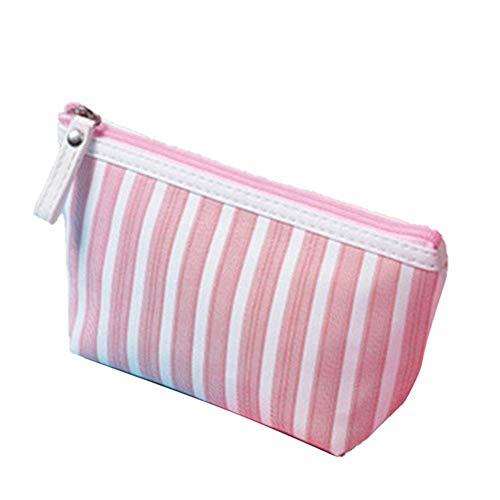 GV - Trousse da viaggio per articoli da toeletta, portatile, impermeabile, per uso quotidiano, Strisce rosa. (Rosa) - AO7VR7DY0U