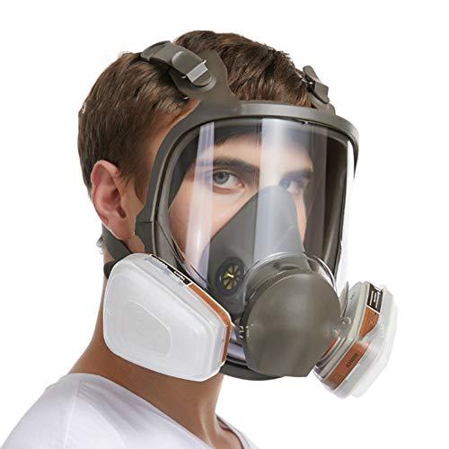 Máscara antigas, Máscara De Gas Cara Completa Silicona