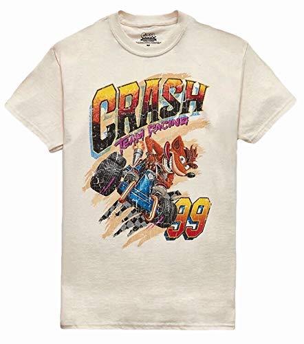 Camiseta Crash Bandicoot Crash Team Racing, Bege, XXL