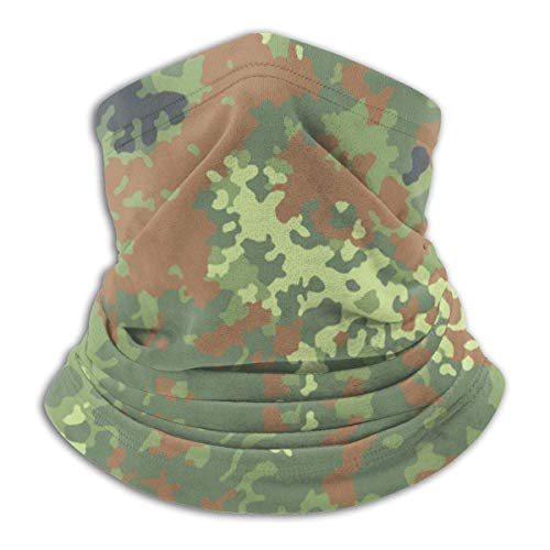 WlQshop German Bundeswehr Flecktarn Camo Neck Warmer Scarf Gaiter Schlauchschal Bandanas for Dust Cold Weather Winter Outdoors Festivals Sports for Men and Women