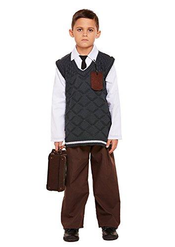 HENBRANDT Evacuee Boy Kid's Costume Medium