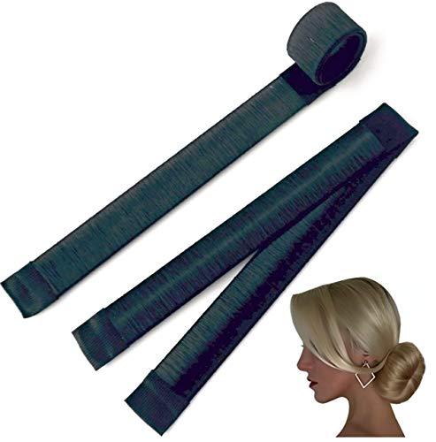 AA Perfect 2er Set Dutt Hilfe in 5 Farben erhältlich | Hair Bun Maker für lange Haare | Magic Twist Donut | DYI Frisur Tools für das perfekte Hair Styling (Black)