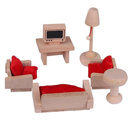 PIXNOR Mueble para casas de muñecas