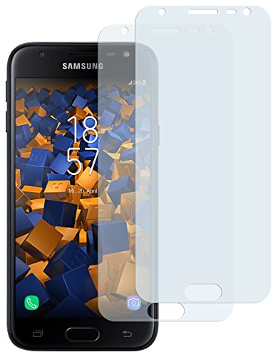 mumbi Schutzfolie kompatibel mit Samsung Galaxy J3 2017 Folie klar, Bildschirmschutzfolie (2X)