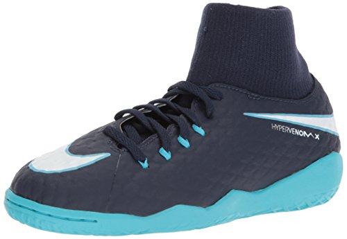 Nike Jr Hypervenomx Phelon 3 DF IC, Botas de fútbol Unisex niño, Azul (Obsidian Azul Gamma Azul Glacial Blanco 414), 37.5 EU