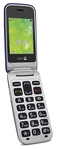Doro 2414 GSM Mobiltelefon im eleganten Klappdesign blau/silber