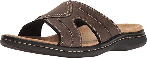 Dockers Mens Sunland Casual Slide Sandal Shoe, Dark Brown, 10 M