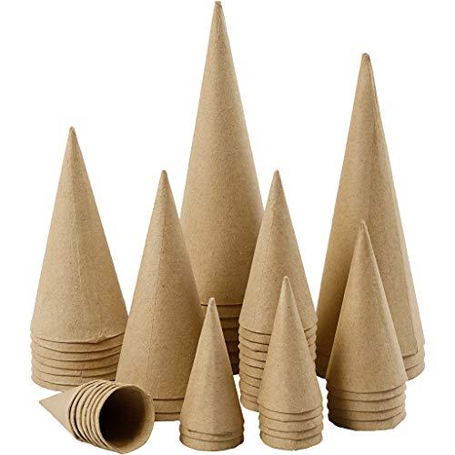 Zapfen - Sortiment, H: 4-20 cm, 50 Stück