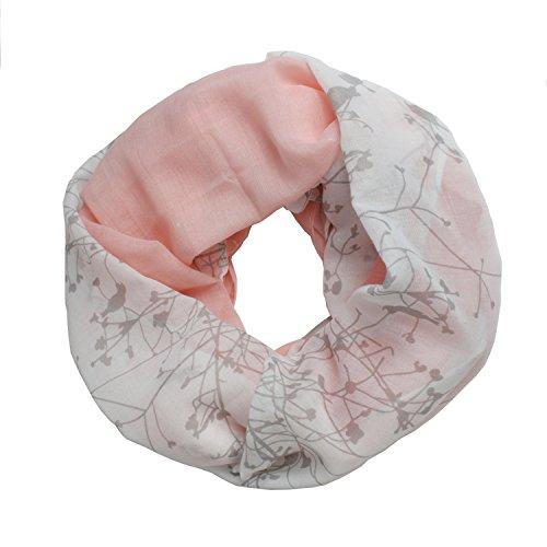 Glamexx24 Glamexx24 Loop Schal Farbeverlauf warme und weiche Schlauchschal mit Vögel Motiv Tuch Damen