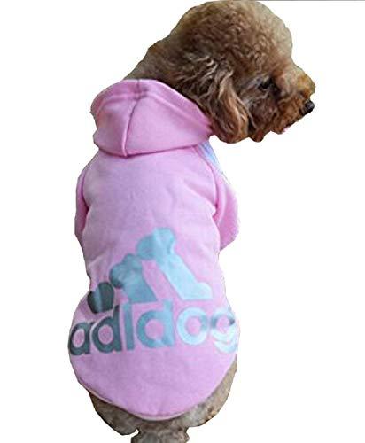 Sweatshirtkostuum - t-shirt - roze - capuchon - adidog - hond - l