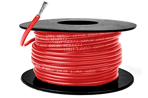 14 AWG Marine Wire -Tinned Copper Primary Boat Cable - 50 Feet - Red - Made in The USA