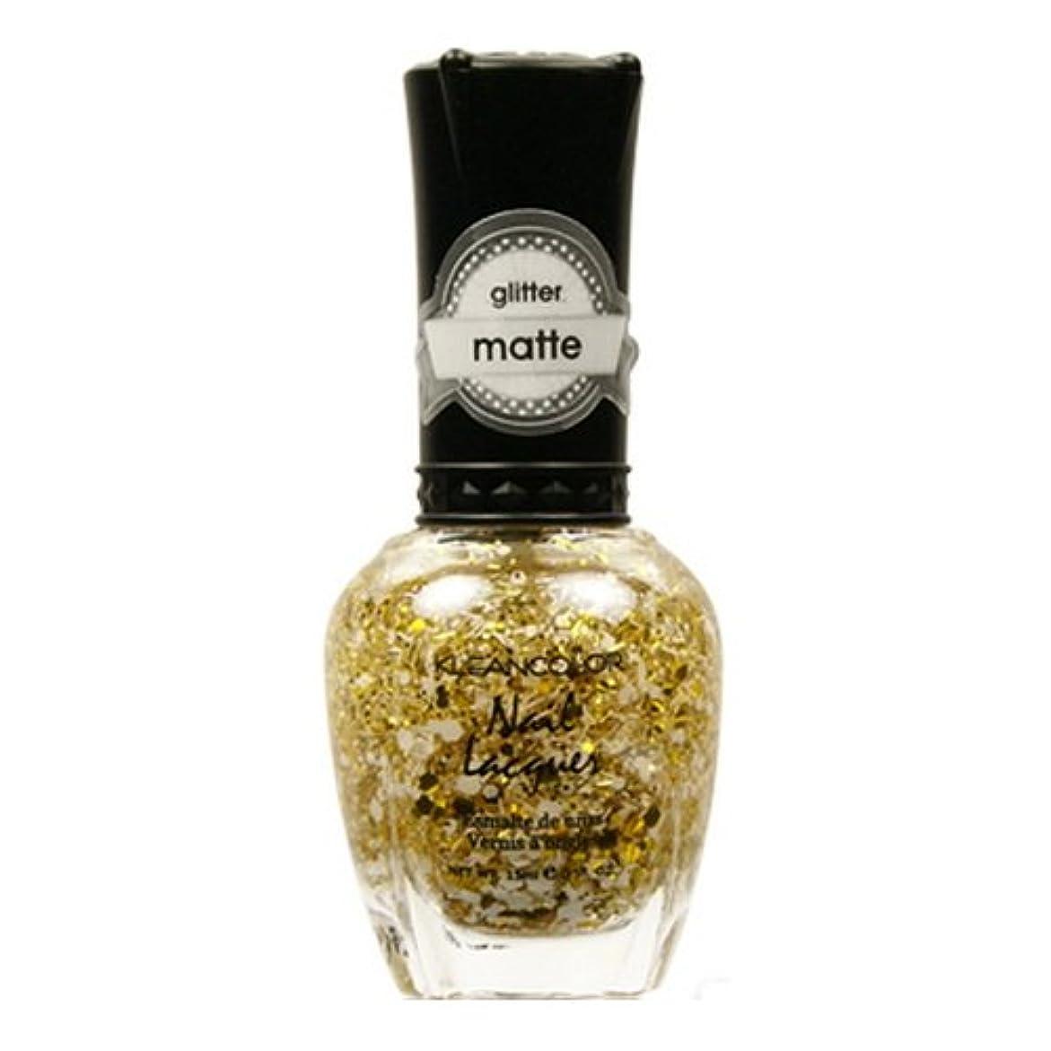 くそー誰が放出(3 Pack) KLEANCOLOR Glitter Matte Nail Lacquer - Everyday is My Birthday (並行輸入品)