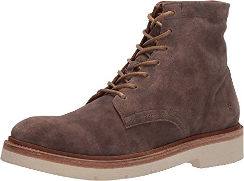 Frye Men's Bowery LT Lace Up Combat Boot, Faded Grey, 8.5 M US