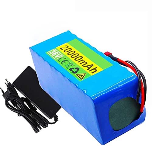 FREEDOH Batería Iones Litio 36 V Y 20 Ah Batería Iones Litio Bicicleta Eléctrica Utilizada para Herramientas Eléctricas Modelos Avión Scooter Eléctrico, Etc. (con Cargador 42 V 2 A)