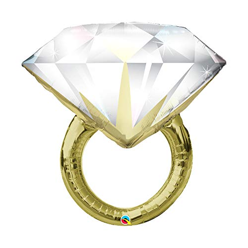 Sparkling Diamond Ring 'Big Rock' Jumbo 37' Foil Engagement Party Bridal Shower Balloon (1)