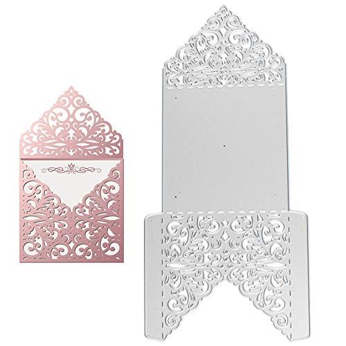 VINFUTUR Dies de Découpe Scrapbooking Matrice de Découpe Carte Invitation Enveloppe Décoration Bricolage Carte pour Fête Mariage